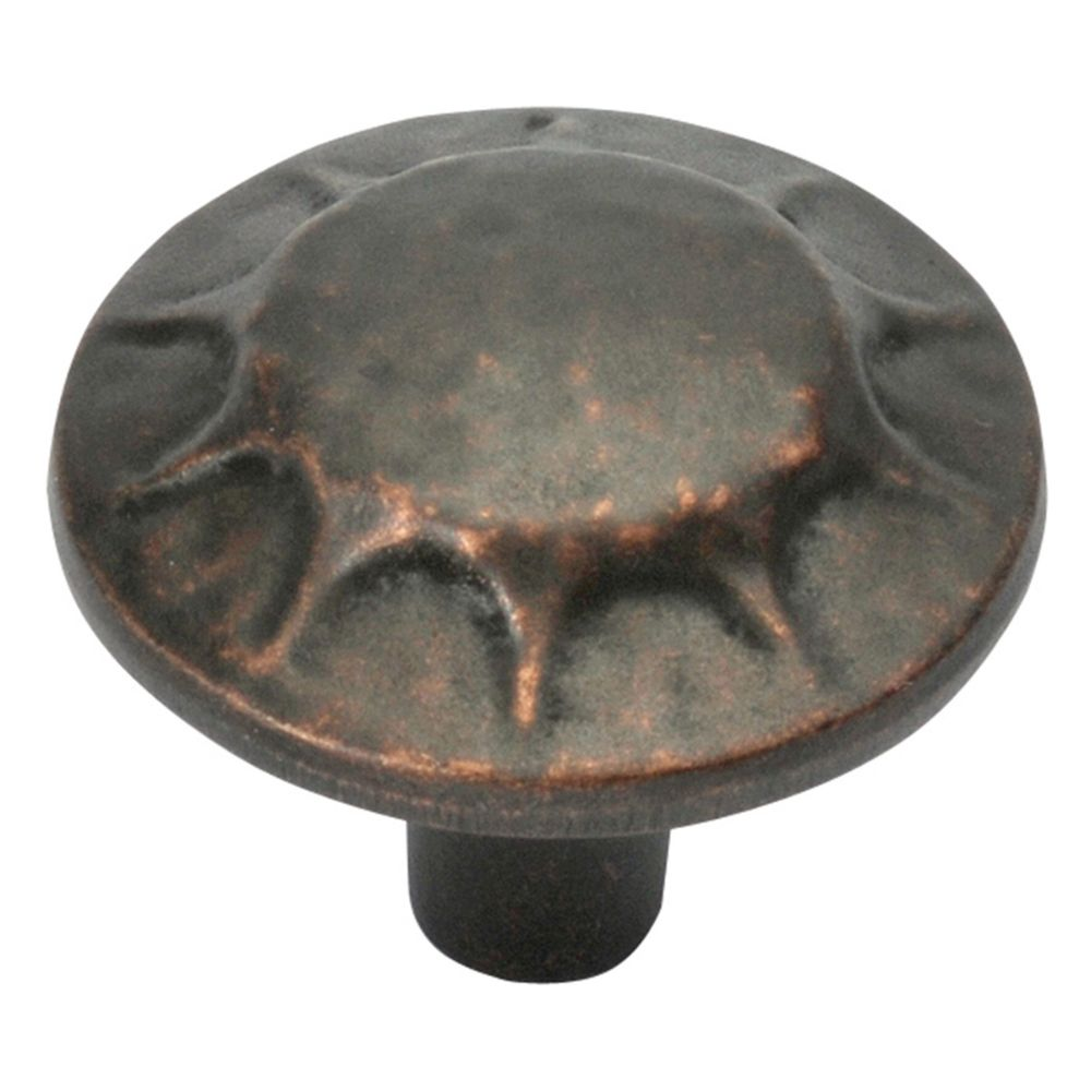 Hickory Hardware P3562-DAC Clover Creek Collection Knob 1-1/4 Inch Diameter Dark Antique Copper Finish