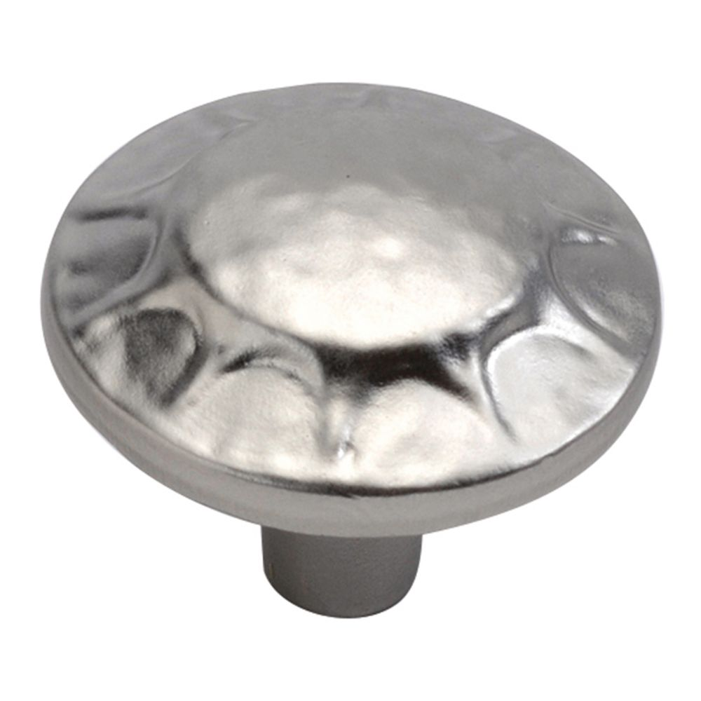 Hickory Hardware P3562-FN Clover Creek Collection Knob 1-1/4 Inch Diameter Flat Nickel Finish