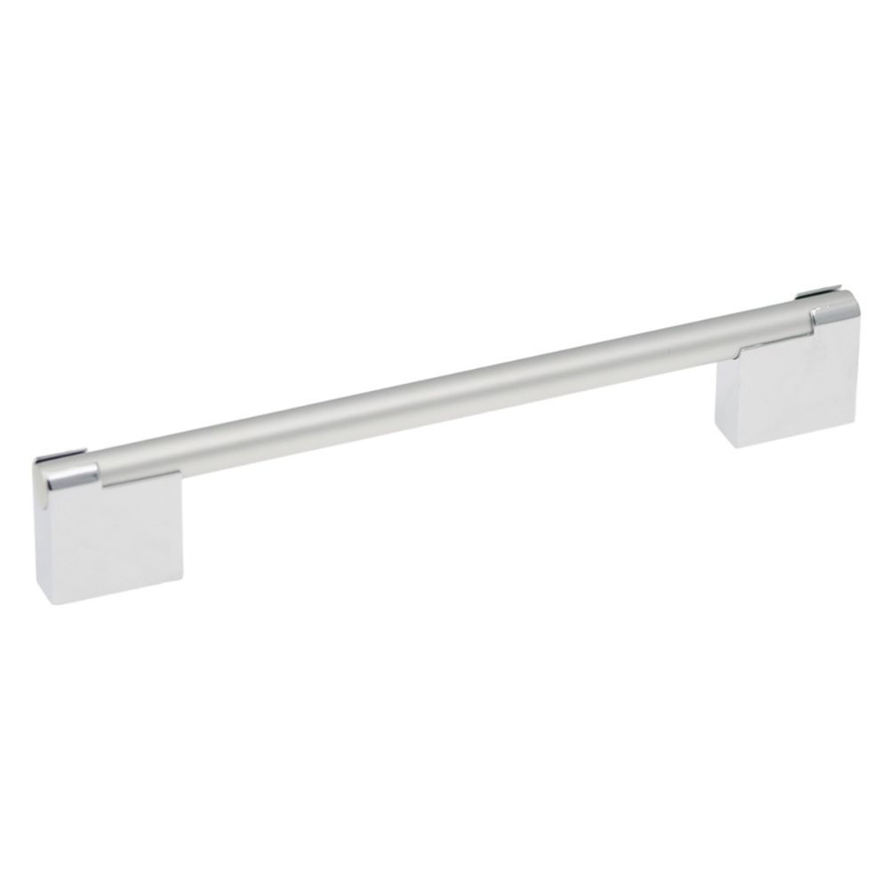 Hickory Hardware P3700-CHSP Mito Collection Pull 6-5/16 Inch (160mm) Center to Center Chrome with Satin Pearl Finish