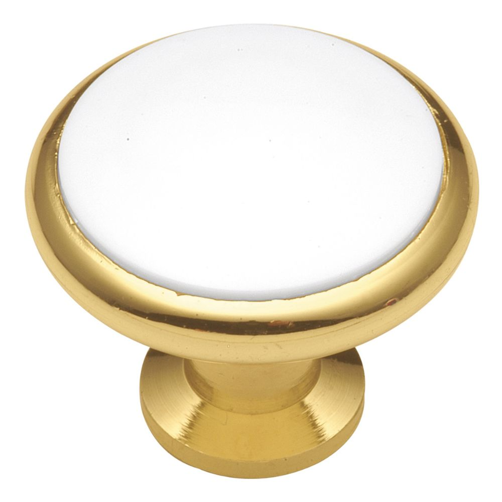 Hickory Hardware P427-W Tranquility Collection Knob 1-5/16 Inch Diameter White Finish