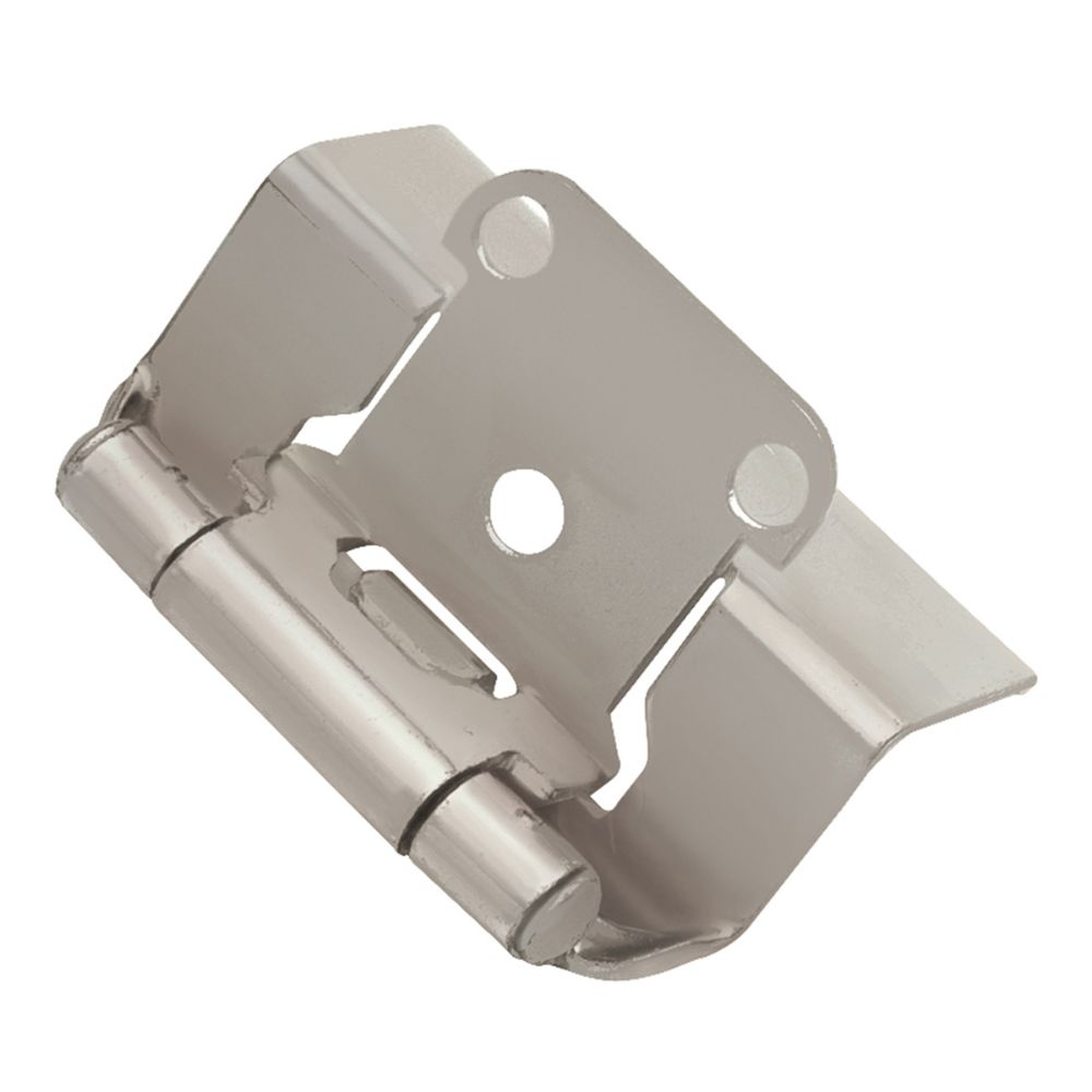 Hickory Hardware P5710F-SN Self-Closing Semi-Concealed Collection Hinge Semi-Concealed (2 Pack) Satin Nickel Finish