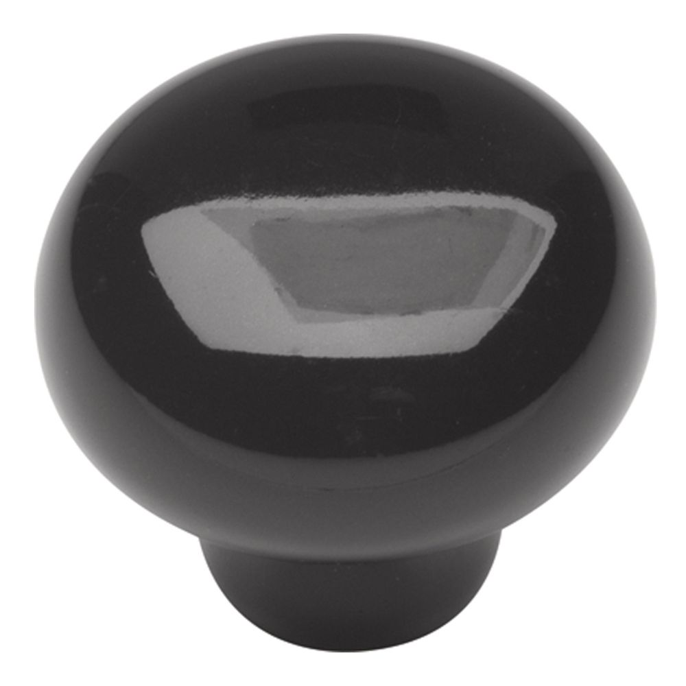 Hickory Hardware P638-BL English Cozy Collection Knob 1-3/8 Inch Diameter Black Finish