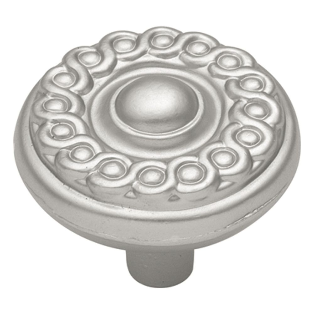 Hickory Hardware P7352-SN Silverado Collection Knob 1-1/4 Inch Diameter Satin Nickel Finish