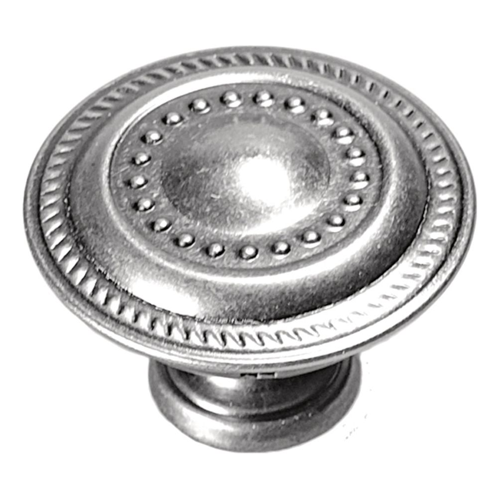Hickory Hardware P8196-ST Manor House Collection Knob 1-1/4 Inch Diameter Silver Stone Finish