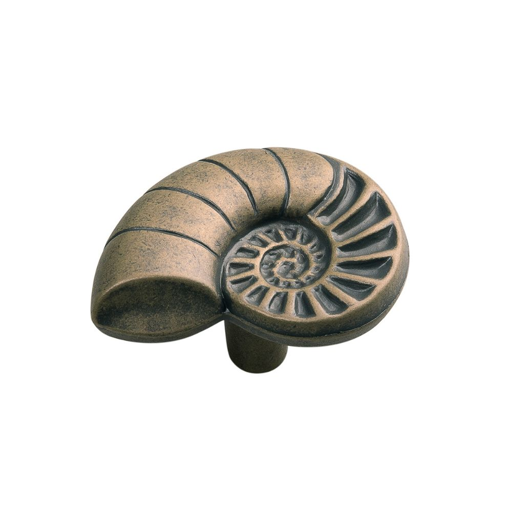 Hickory Hardware PA0114-AM South Seas Collection Knob 1-1/2 Inch X 1-1/2 Inch Antique Mist Finish