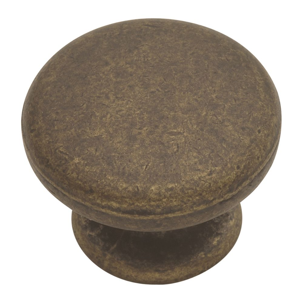 Hickory Hardware PA1216-WOA OxFord Antique Collection Knob 1-1/4 Inch Diameter Windover Antique Finish
