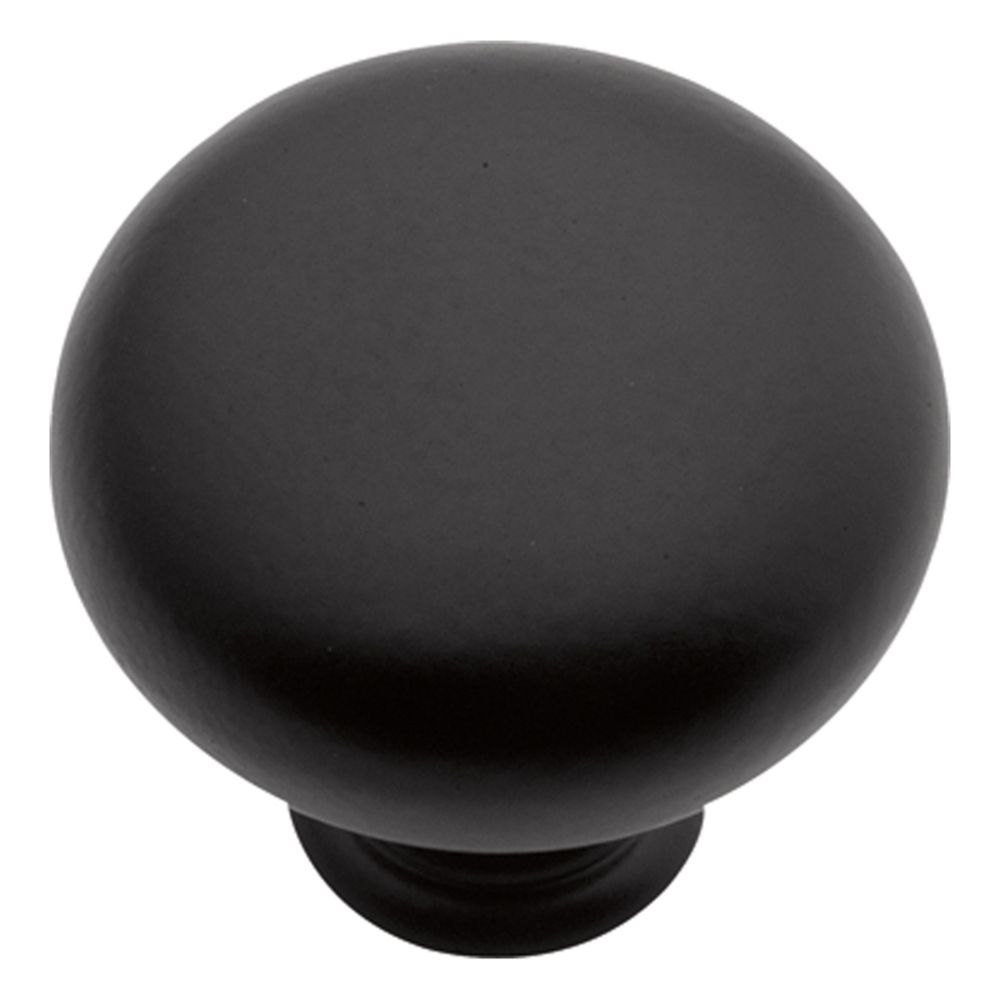 Hickory Hardware PA1218-MB Modus Collection Knob 1-1/4 Inch Diameter Matte Black Finish