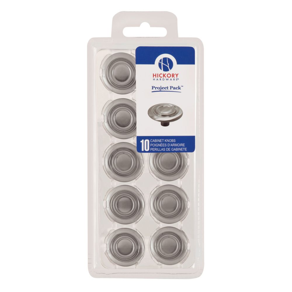 Hickory Hardware VP121-SN Cavalier Collection Knob 1-3/8 Inch (10 Pack) Satin Nickel Finish