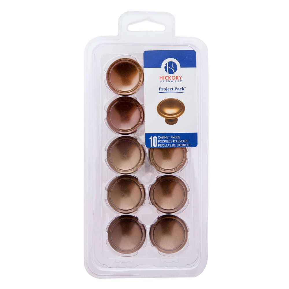 Hickory Hardware VP14848-VBZ Conquest Collection Knob 1-3/8 Inch (10 Pack) Veneti Bronze Finish