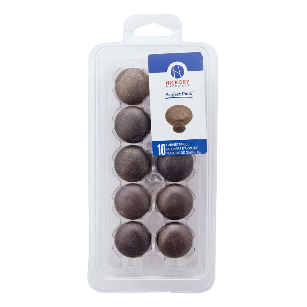 Hickory Hardware VPA1218-WOA Manchester Collection Knob 1-1/4 Inch (10 Pack) Windover Antique Finish