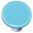 Aquila Art Glass HK1046-KRA Light Cyan Knob Round, Alum Post