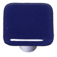 Aquila Art Glass HK1047-KB Indigo Blue Knob, Black Post