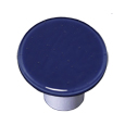 Aquila Art Glass HK1047-KRA Indigo Blue Knob Round, Alum Post