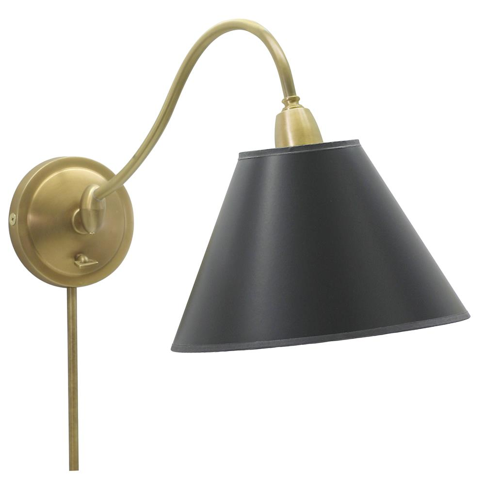 House of Troy HP725-WB-BP Hyde Park Adjustable Wall Swing Arm Lamp