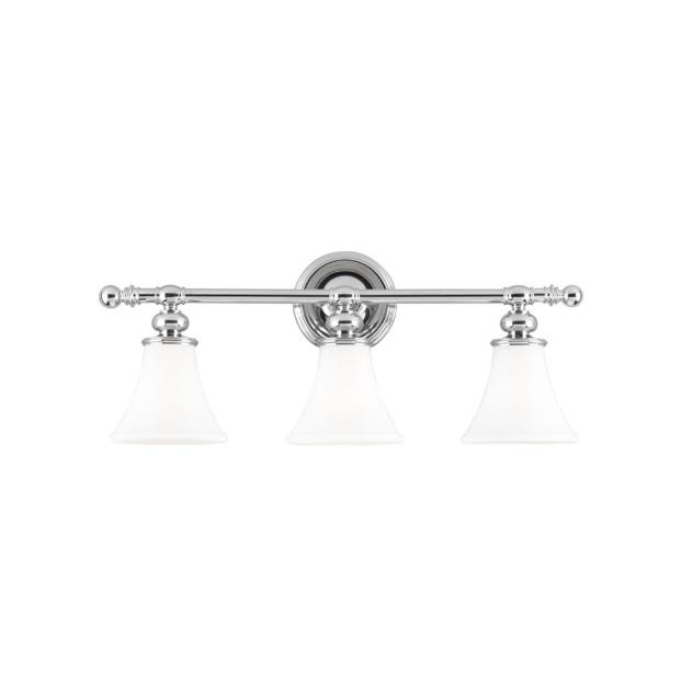 Hudson Valley Lighting 4503-PN Weston 3 Light Bath Bracket in Polished Nickel