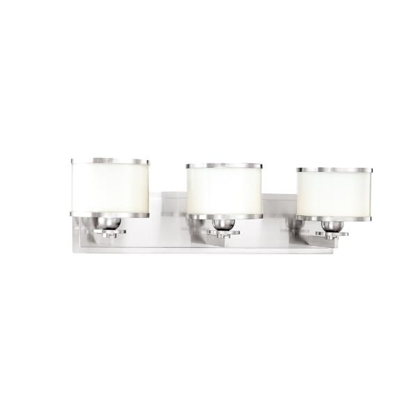 Hudson Valley Lighting 6103-PN Basking Ridge 3 Light Bath Bracket in Polished Nickel