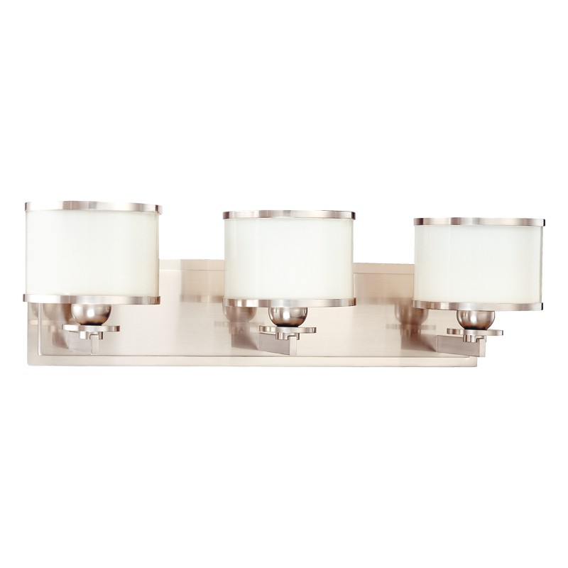 Hudson Valley Lighting 6103-SN Basking Ridge 3 Light Bath Bracket in Satin Nickel