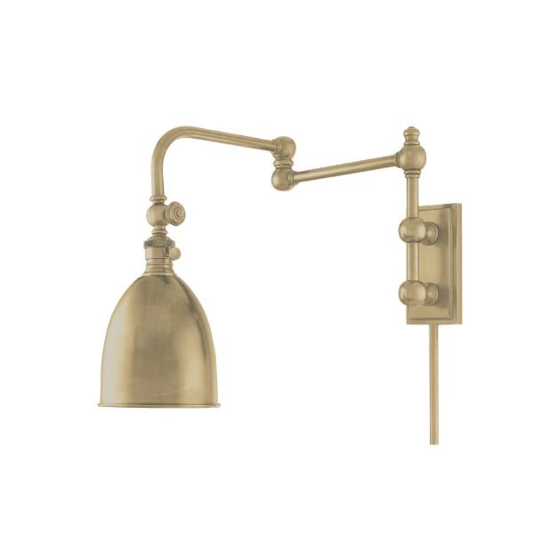Hudson Valley Lighting 771-AGB Roslyn 1 Light Wall Sconce in Aged Brass