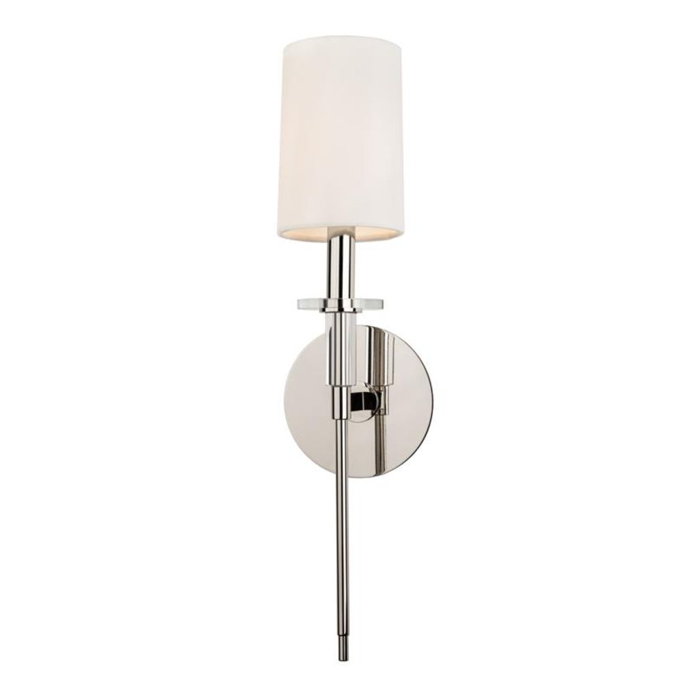 Hudson Valley Lighting 8511-PN Amherst 1 Light Wall Sconce in Polished Nickel