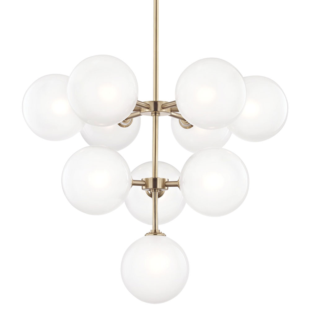 Mitzi by Hudson Valley Lighting H122810-AGB ASHLEIGH 10 Light Chandelier