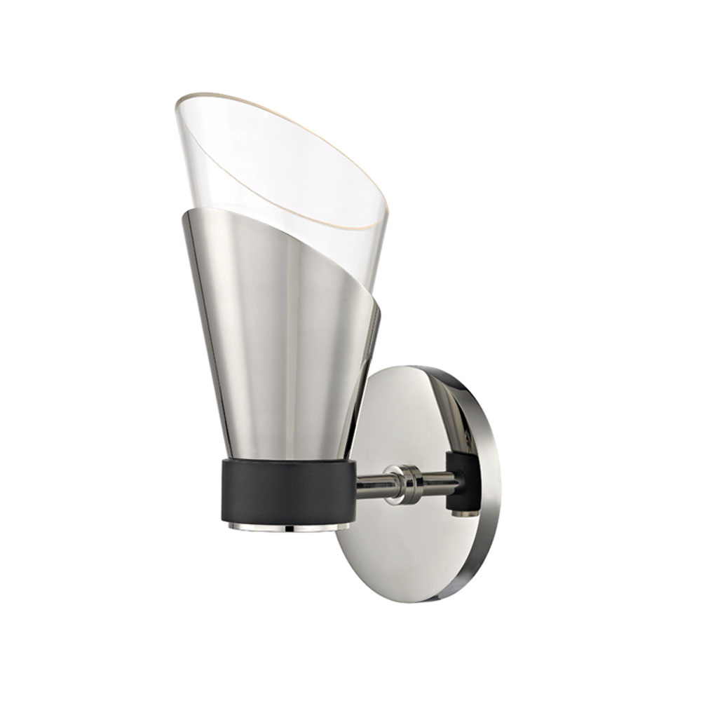 Mitzi by Hudson Valley Lighting H130101-PN/BK ANGIE 1 Light Wall Sconce