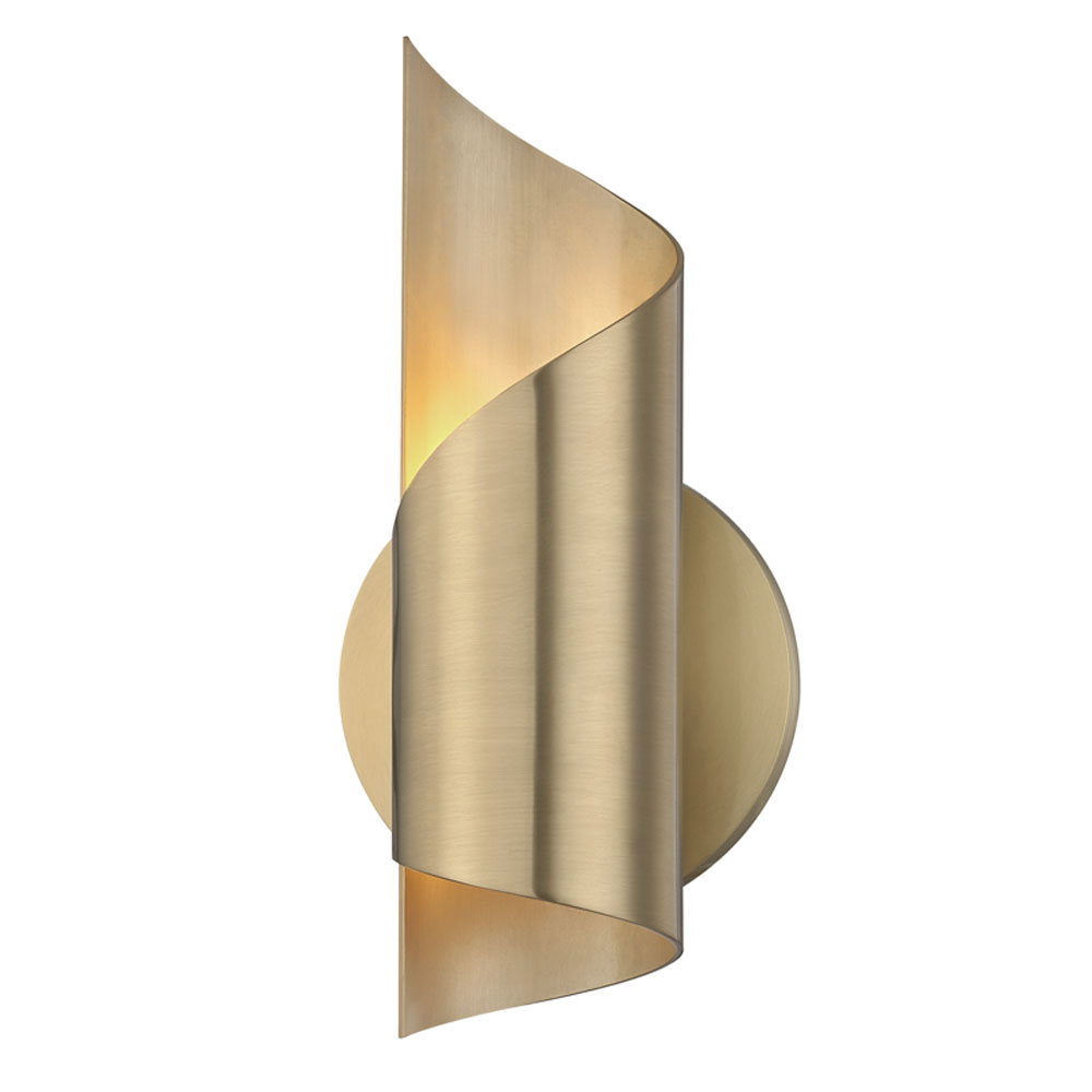 Mitzi by Hudson Valley Lighting H161101-AGB EVIE 1 Light Wall Sconce