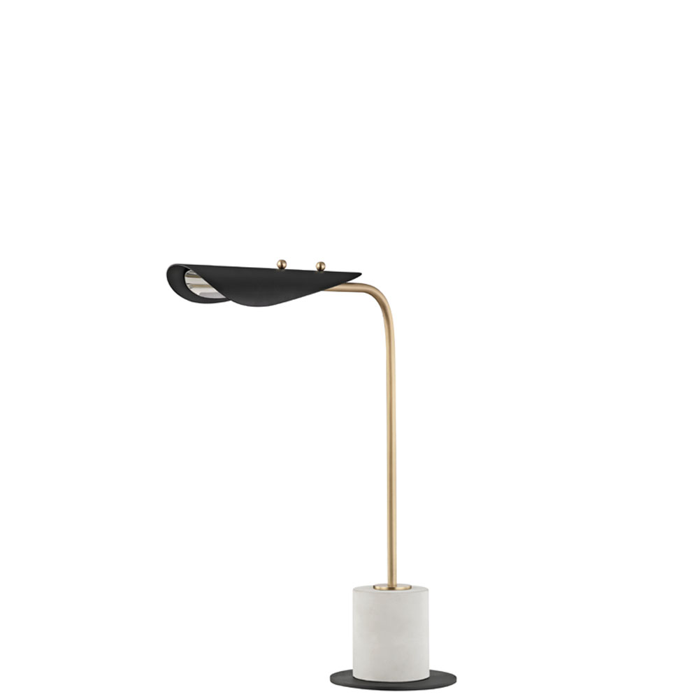 Mitzi by Hudson Valley Lighting HL157201-AGB/BK LAYLA 1 Light Table Lamp