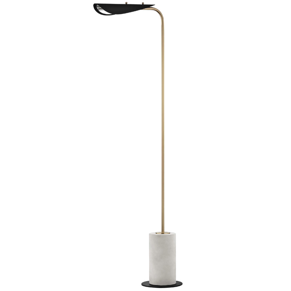 Mitzi by Hudson Valley Lighting HL157401-AGB/BK LAYLA 1 Light Floor Lamp