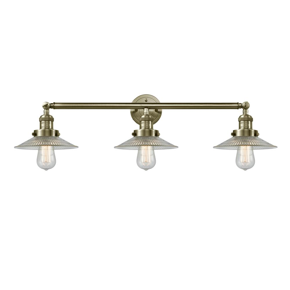 Innovations 205-OB-S-G2 3 Light Halophane 32 inch Bathroom Fixture in Oil Rubbed Bronze