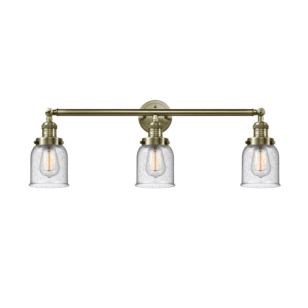 Innovations 205-OB-S-G54 3 Light Small Bell 30 inch Bathroom Fixture in Oil Rubbed Bronze