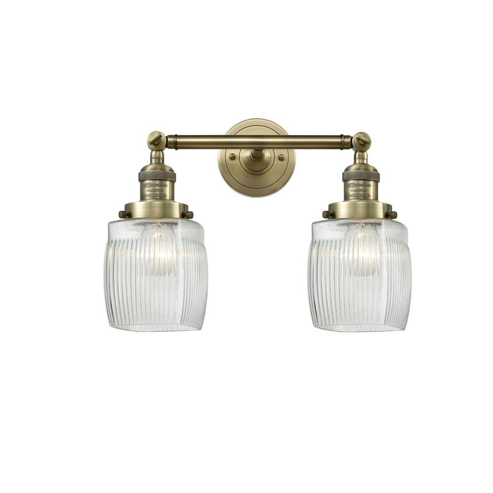 Innovations 208-AB-G302 2 Light Colton 16 inch Bathroom Fixture
