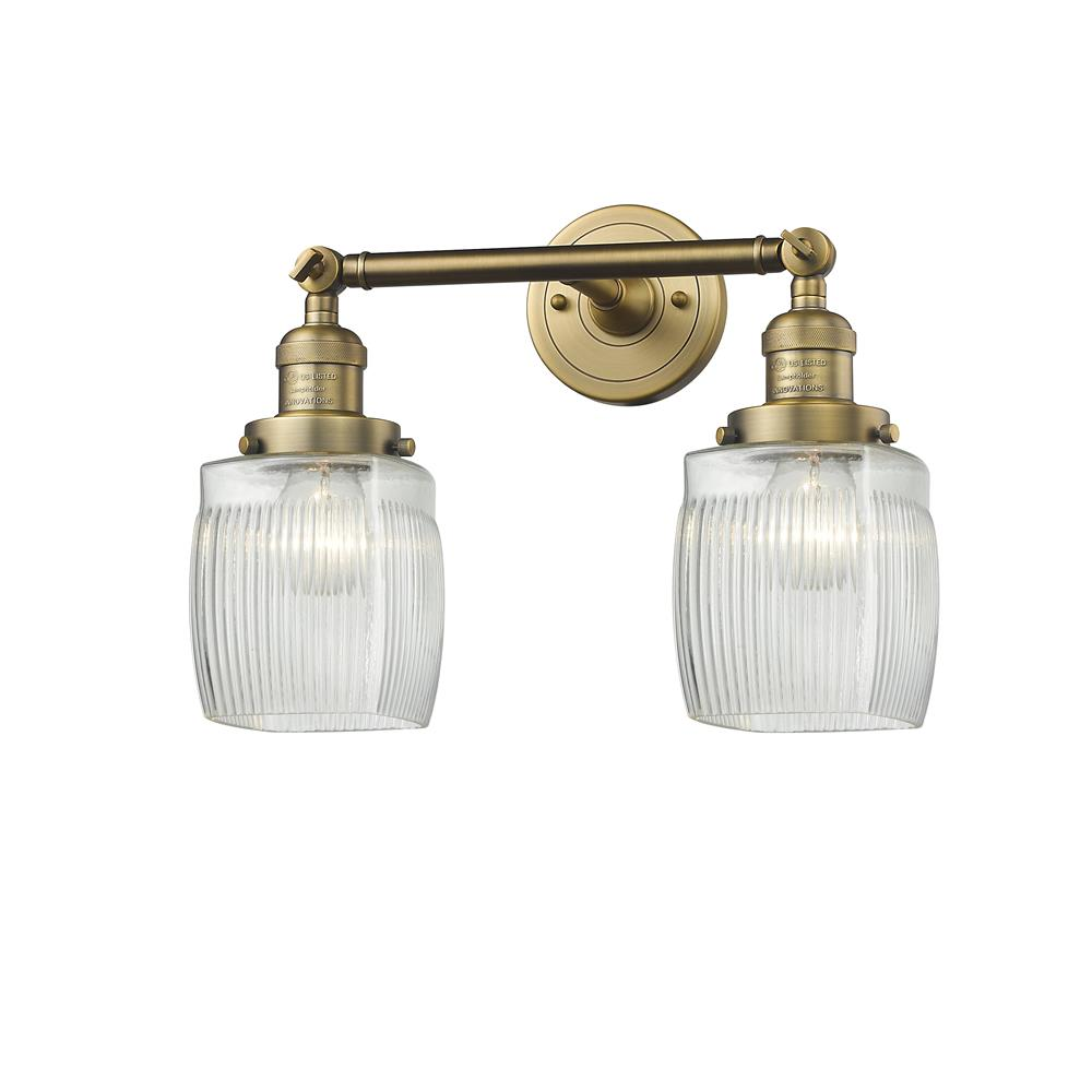 Innovations 208-BB-G302-LED 2 Light Vintage Dimmable LED Colton 16 inch Bathroom Fixture