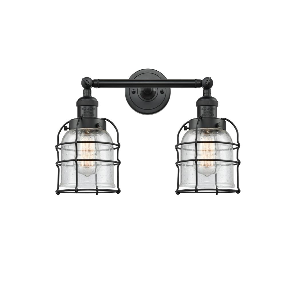 Innovations 208-BK-G54-CE 2 Light Small Bell Cage 18 inch Bathroom Fixture