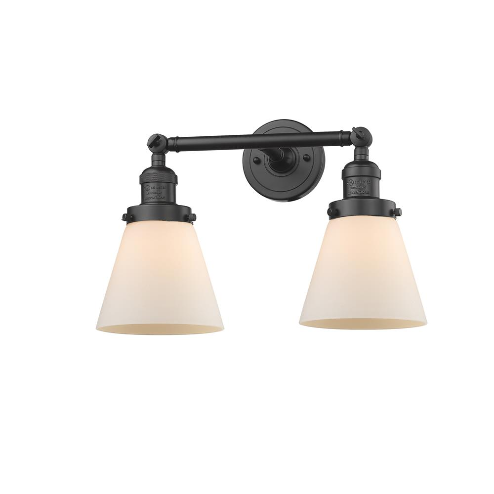 Innovations 208-OB-G61 2 Light Small Cone 16 inch Bathroom Fixture