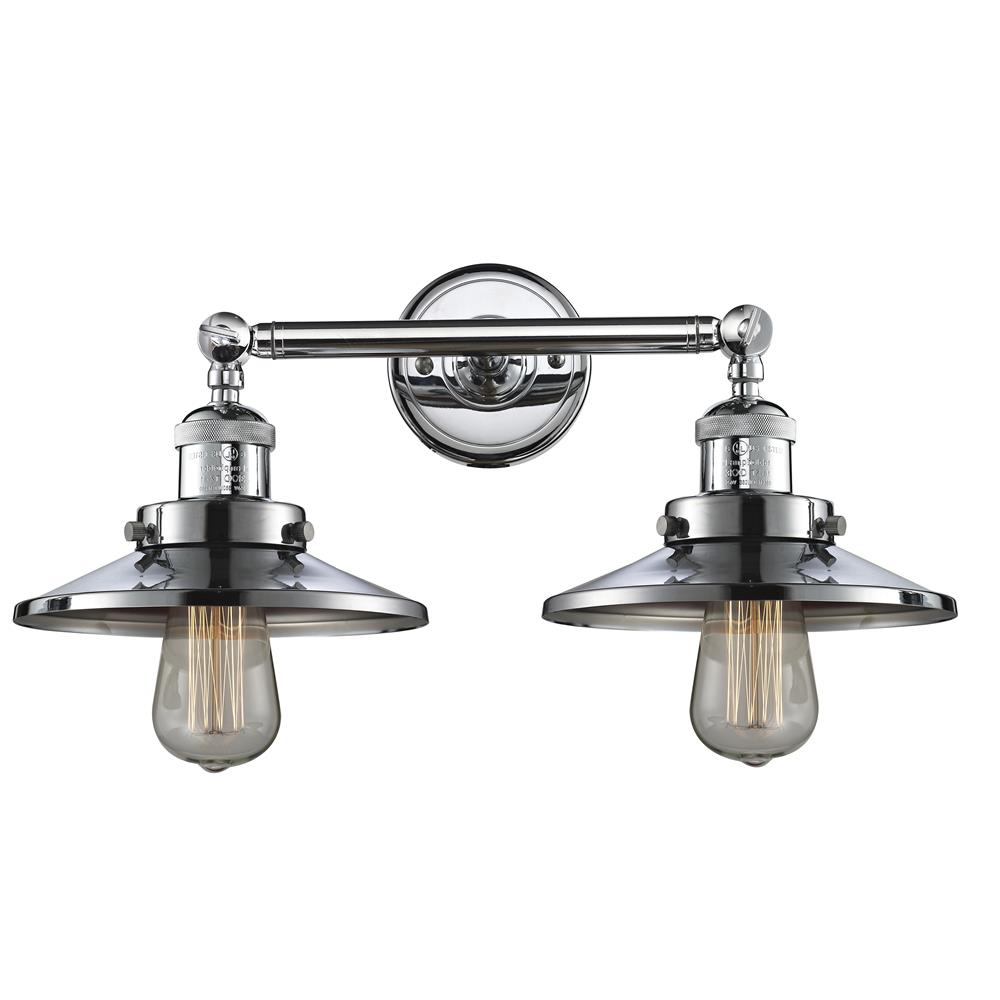 Innovations 208-PC-M7 2 Light Railroad 18 inch Bathroom Fixture