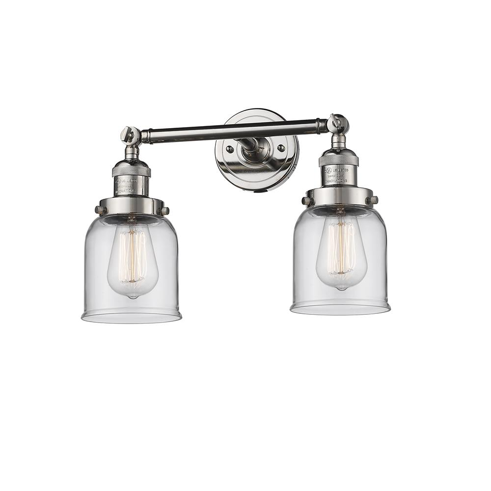 Innovations 208-PN-G52 2 Light Small Bell 16 inch Bathroom Fixture