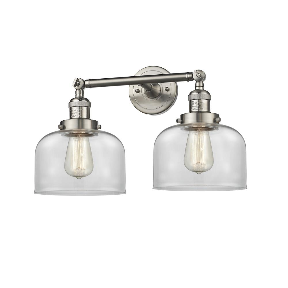 Innovations 208-SN-G72 2 Light Large Bell 19 inch Bathroom Fixture