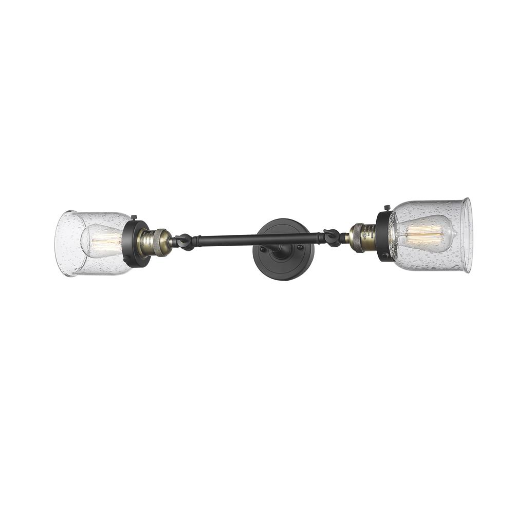 Innovations 208L-BAB-G54 2 Light Small Bell   inch Sconce