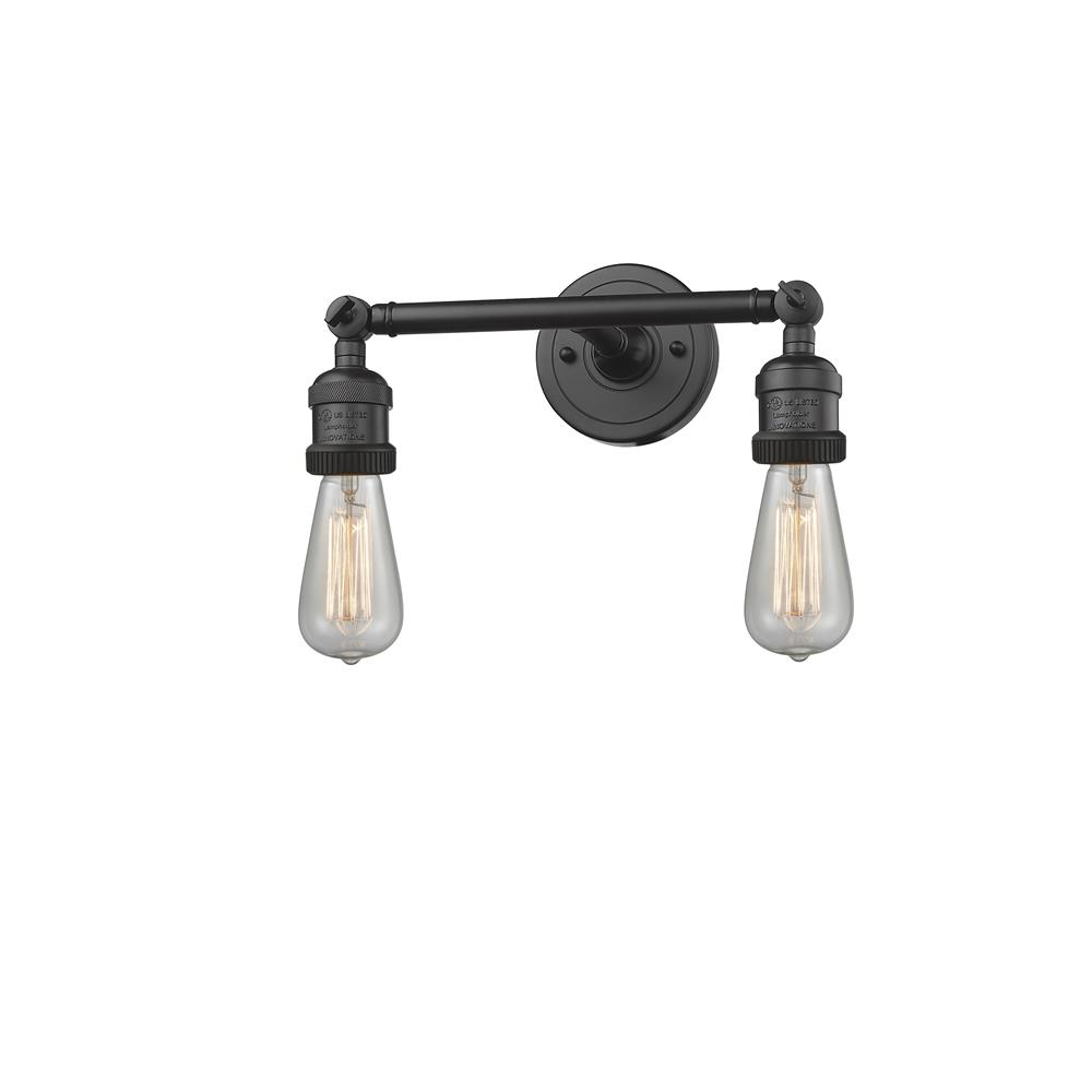 Innovations 208NH-OB 2 Light Bare Bulb 11 inch Bathroom Fixture