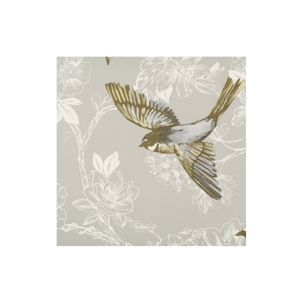 JF Fabrics 1547-66 Wallcovering Floral with Birds Wallpaper