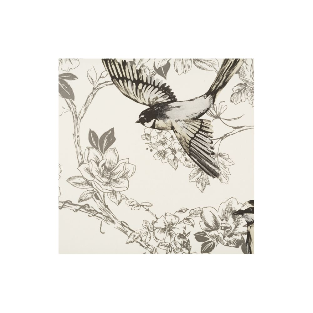 JF Fabrics 1547-94 Wallcovering Floral with Birds Wallpaper