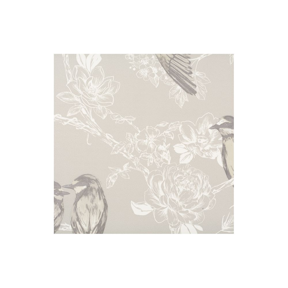 JF Fabrics 1547-95 Wallcovering Floral with Birds Wallpaper