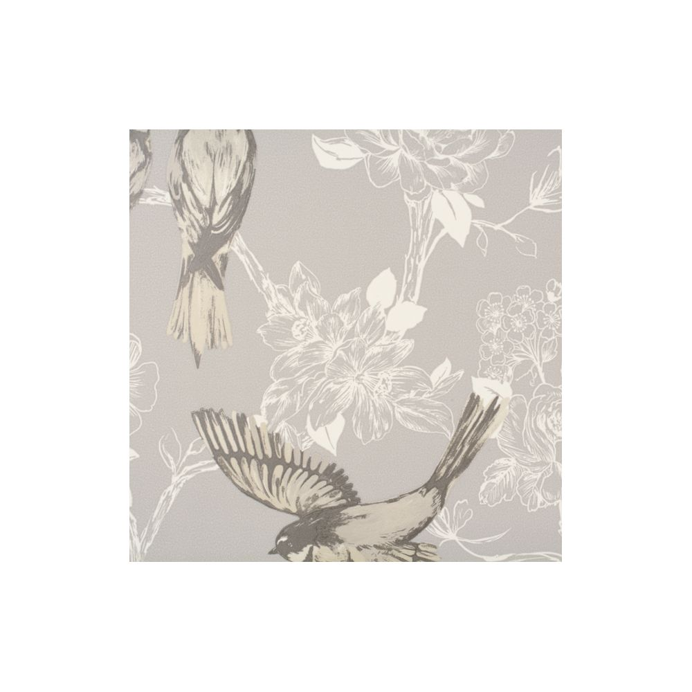 JF Fabrics 1547-96 Wallcovering Floral with Birds Wallpaper