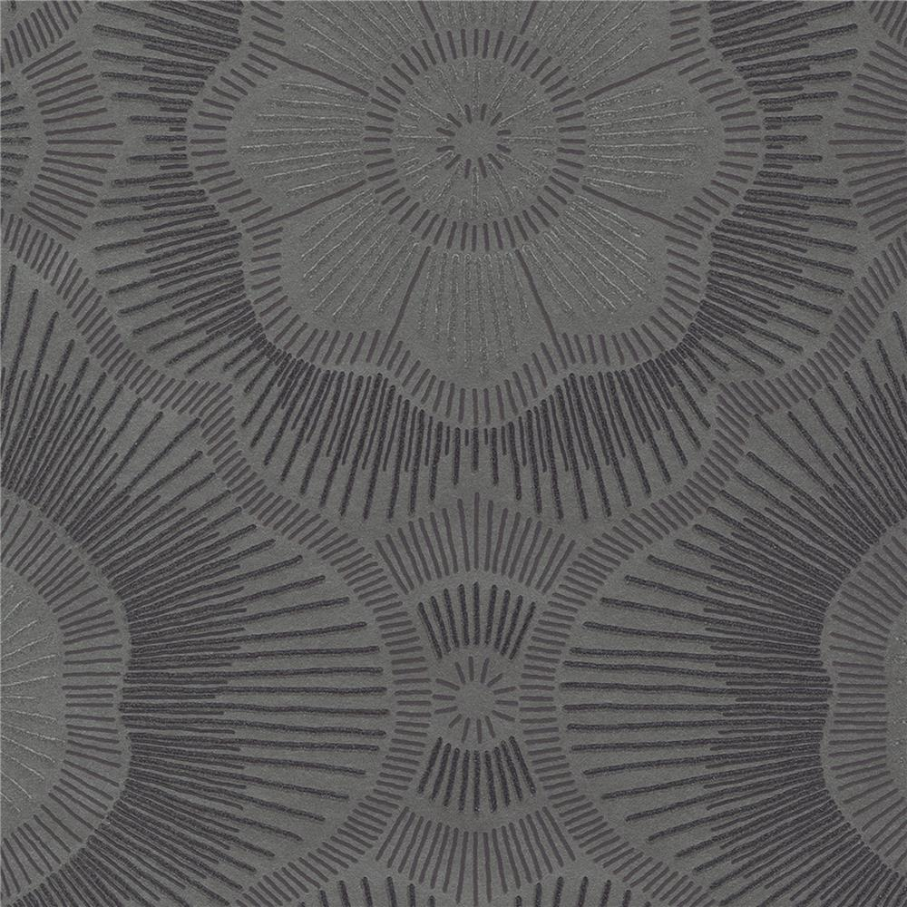 JF Fabrics 52074 38W8621 Karma Wallpaper in Brown; Aubergine