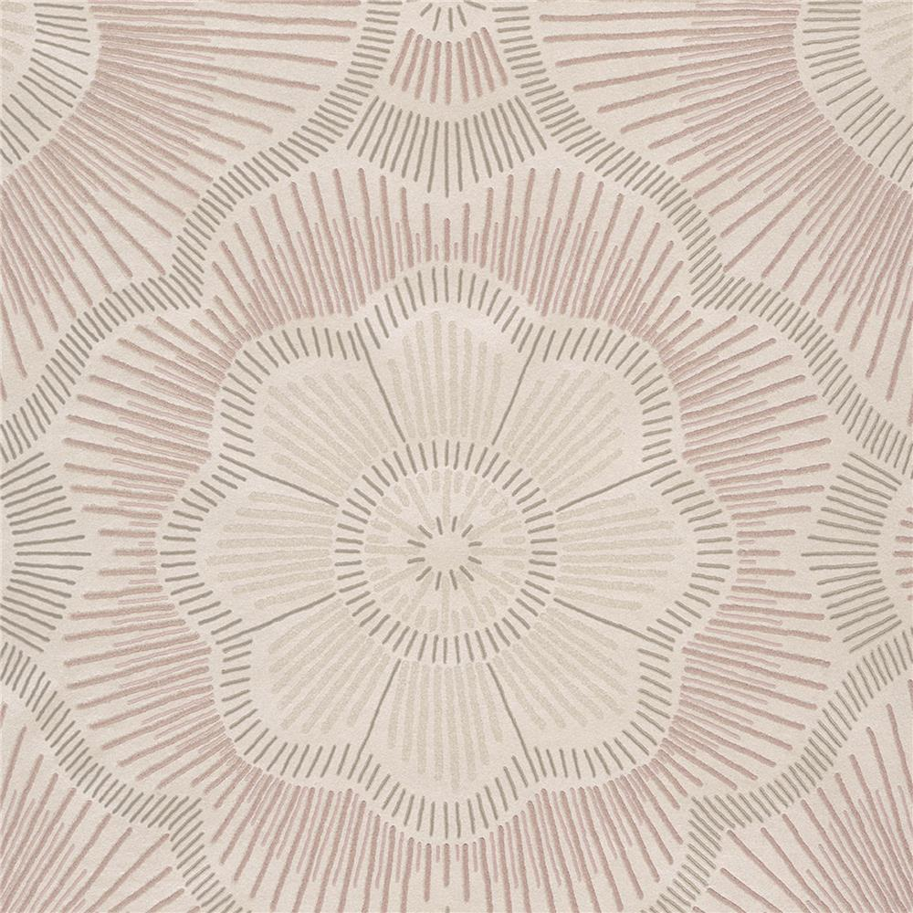 JF Fabrics 52074 41W8621 Karma Wallpaper in Pink;  Blush
