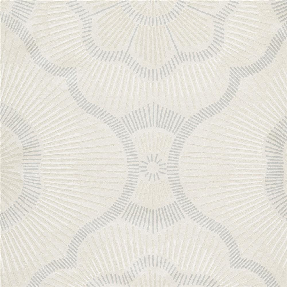JF Fabrics 52074 92W8621 Karma Wallpaper in Cream; Grey