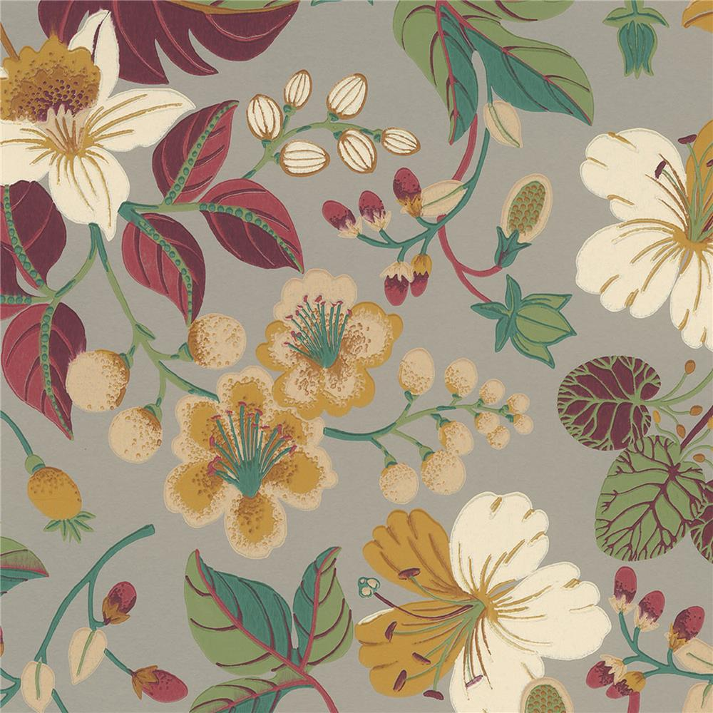JF Fabrics 52107 22W8811 IN BLOOM Orange; Rust Wallpaper