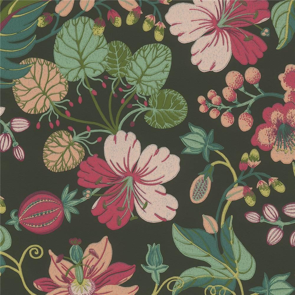 JF Fabrics 52107 79W8811 IN BLOOM Green Wallpaper