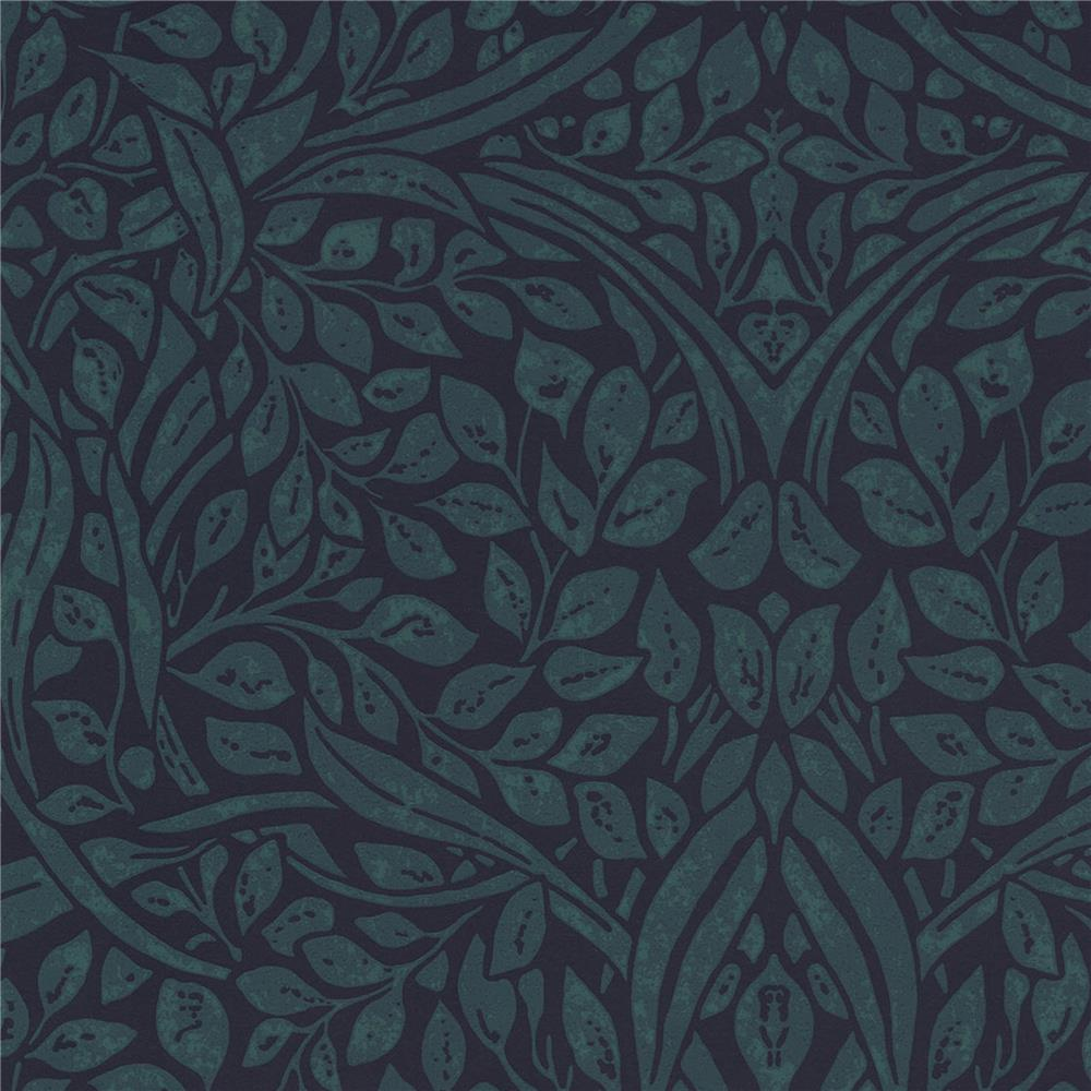 JF Fabrics 52108 67W8811 IN BLOOM Blue Wallpaper