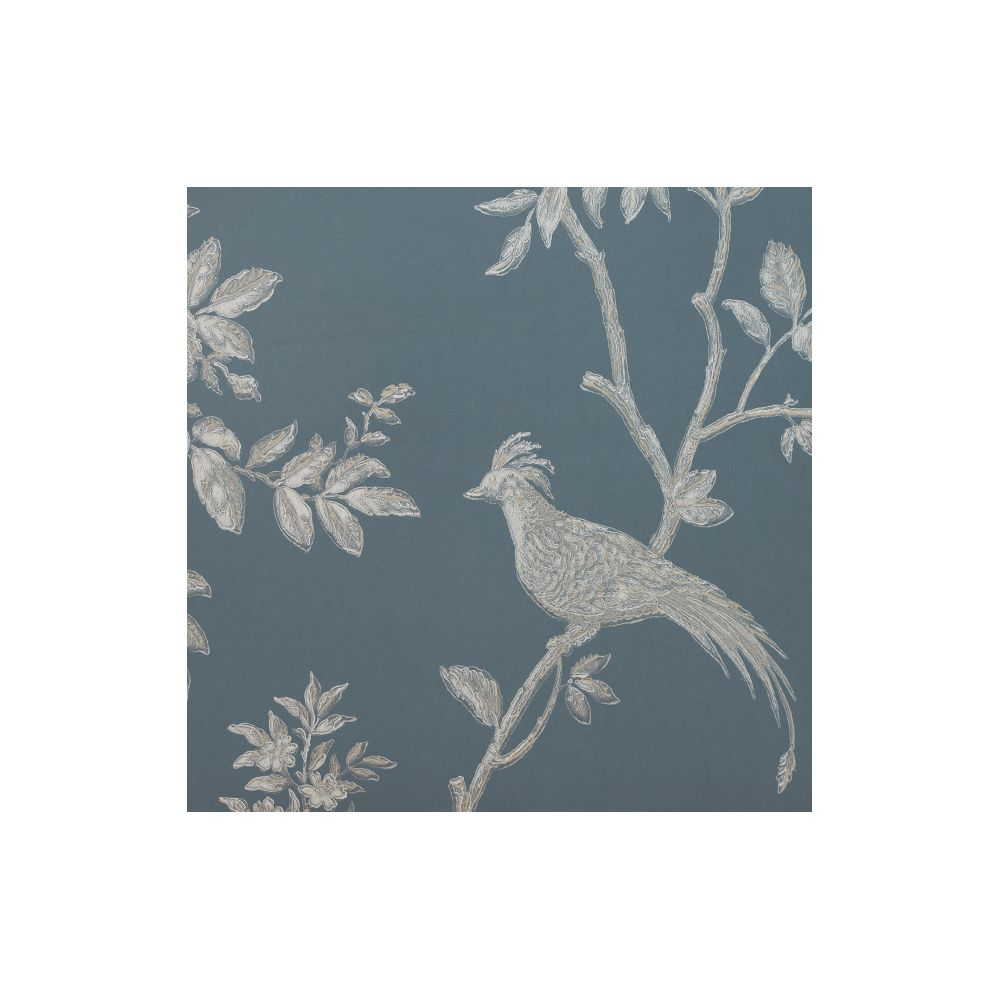 JF Fabrics 8002-66 Wallcovering Bird On Branch Straight Match Wallpaper
